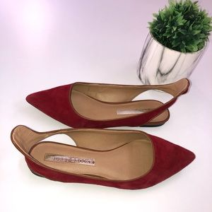 Audrey Brooke Red Flats Size 6M